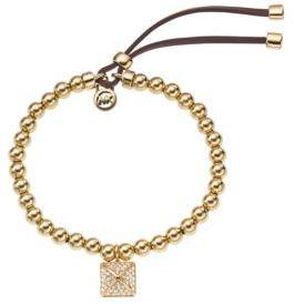 Michael Kors Gold-Tone Stretch Pyramid Charm Bracelet