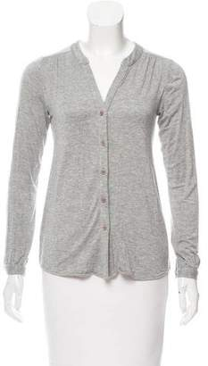 Barneys New York Barney's New York Mélange Button-Up Cardigan