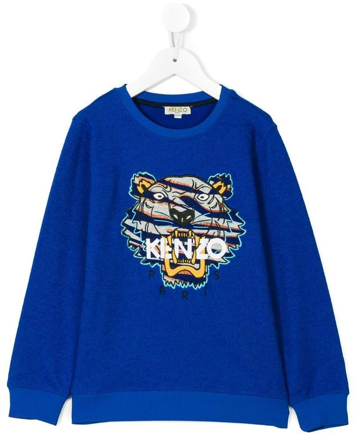tiger embroidered jumper