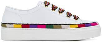 Etro stripe detail lace-up sneakers