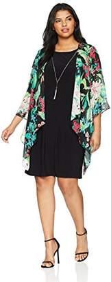 Tiana B Women's Plus Size Mock Jacket Dress