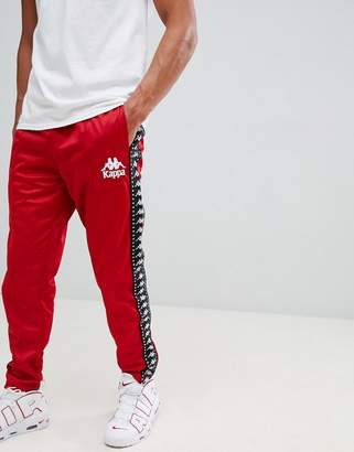 Kappa jogger with logo taping and seam detail in red