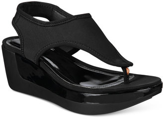 Kenneth Cole Reaction Women's Pepea Star Platform Wedge Sandals $59 thestylecure.com