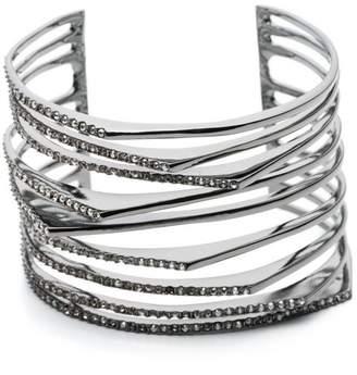 Alexis Bittar Crystal Encrusted Origami Cuff Bracelet