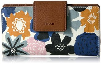 Fossil Emma Rfid Tab Wallet-navy Floral Wallet $60 thestylecure.com