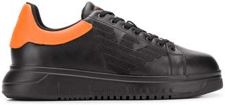 Emporio Armani contrasting heel sneakers