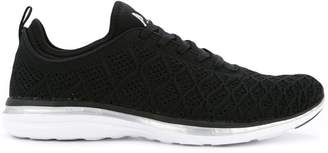 Apl textured lace-up sneakers
