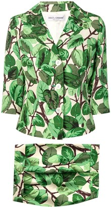 Dolce & Gabbana Pre-Owned 1990's leaf print suit