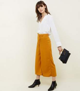 New Look Mustard D-Ring Belt Cropped Trousers