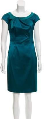 Philosophy di Alberta Ferretti Satin Sheath Dress