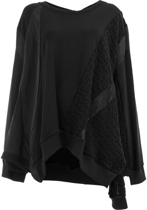 Koché cable knit detail sweatshirt