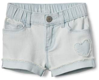 """Gap 3"""" Shorty Shorts with Heart Applique in Stretch"""