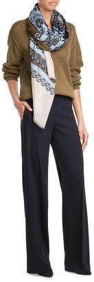 Diane von Furstenberg Printed Scarf with Cashmere $149 thestylecure.com