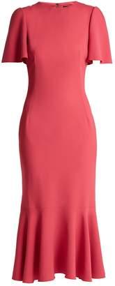 Dolce & Gabbana Fluted-sleeve cady dress