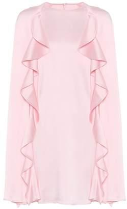 Valentino Hammered satin cape dress