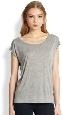 Alice + Olivia Rolled Cuff Tee