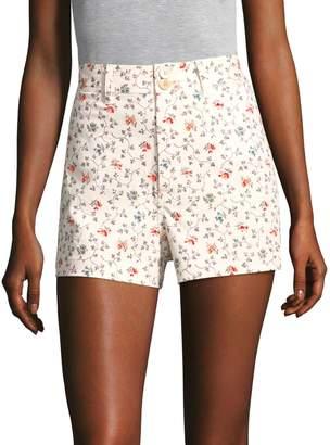 Rebecca Taylor Floral Vine Twill Shorts