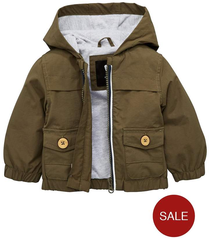 Mini V By Very Mini V By Very Baby Boys Jersey Lined Parka With Hood
