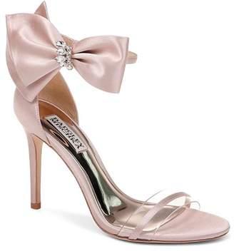 cd87a3664567 Badgley Mischka Women s Fran Embellished Satin Bow High-Heel Sandals