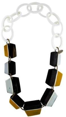 Marni Resin & Horn Linked Necklace