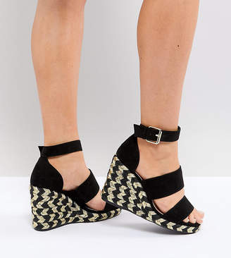 Asos DESIGN Taffy Wide Fit espadrille wedges