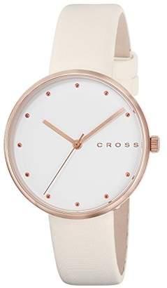 Cross [クロス 腕時計 ホワイト文字盤 カーフレザーベルト CR9054-04 メンズ 【正規輸入品】