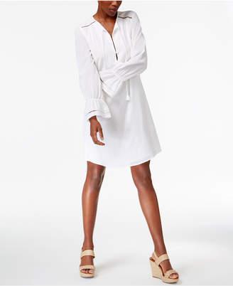 Trina Turk Lucious Cotton Shirtdress $298 thestylecure.com