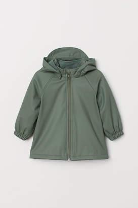 H&M Fleece-lined Rain Jacket - Green