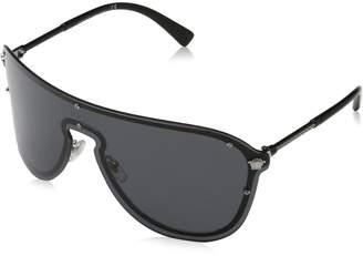 Versace Grey Rectangular Sunglasses