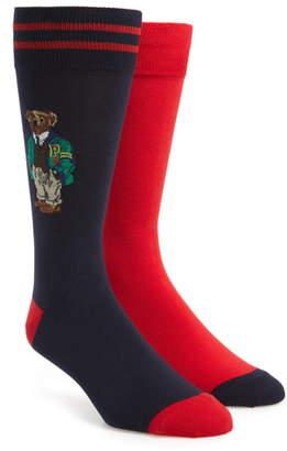 Polo Ralph Lauren Varsity Bear 2-Pack Socks