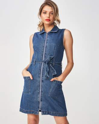 Supre Zip-Thru Denim Dress