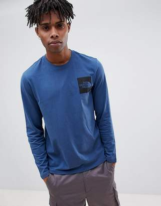 The North Face Long Sleeve Fine T-Shirt in Blue