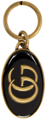 Gucci Black and Gold GG Keychain