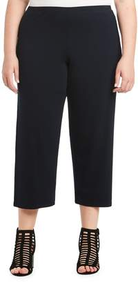 Toni Plus Jersey Wide Leg Crop Pants