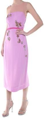 Dries Van Noten Delicia Sh Emb Crystal-embellished Crepe Midi Dress