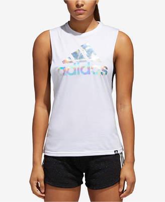 adidas Holographic Logo Tank Top