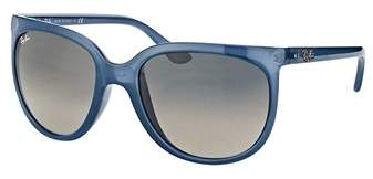 Ray-Ban Cats 1000 Rb 4126 630371 Trasparent Light Blue Cat Eye Sunglasses.