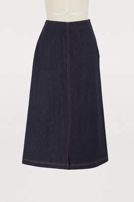 Fendi Straight denim skirt
