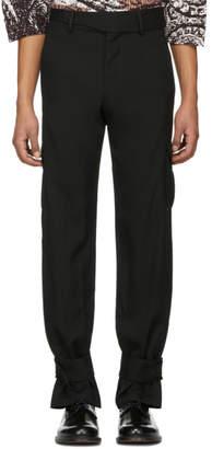 J.W.Anderson Black Cuff Strap Cargo Pants