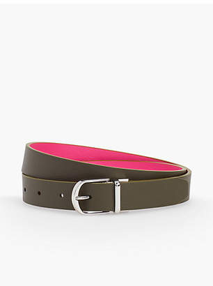 Talbots Plus Size Reversible Leather Tab Belt