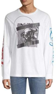 Diesel Long-Sleeve Graphic T-Shirt