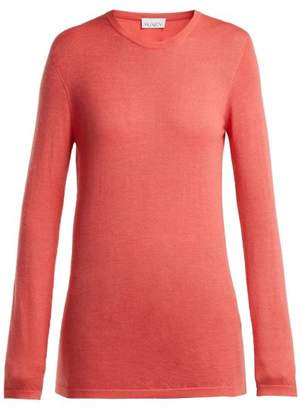 Raey Long Line Fine Knit Cashmere Sweater - Womens - Coral