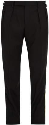 Saint Laurent Slim-leg side-trimmed wool tuxedo trousers