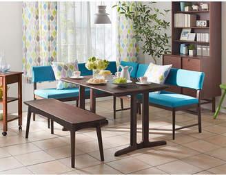 IDC OTSUKA/大塚家具 ダイニングテーブル フィル3 角丸天板/木製脚 W1350/オーク材DB色