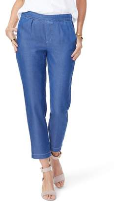 NYDJ Hidden Drawstring Chambray Pants