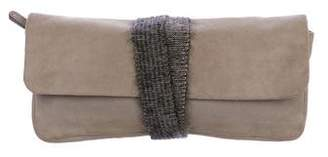 Brunello Cucinelli Suede Flap Clutch