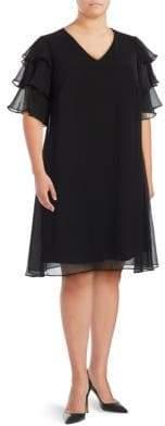 Calvin Klein V-Neck Shift Dress