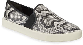 Vince Preston Snake-Print Leather Sneakers