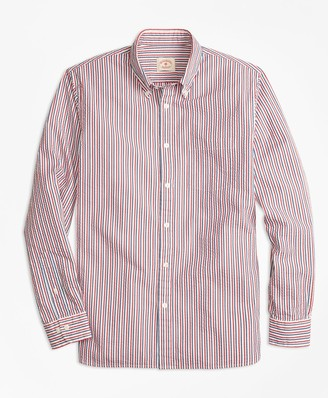 Brooks Brothers Stripe Cotton Seersucker Sport Shirt