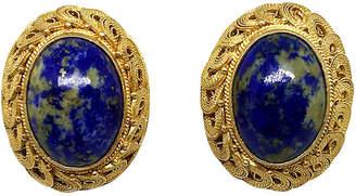 One Kings Lane Vintage Chinese Sodalite Earrings - Little Treasures